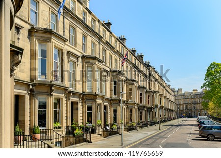 End terrace stock photos images pictures shutterstock for 4 rothesay terrace edinburgh