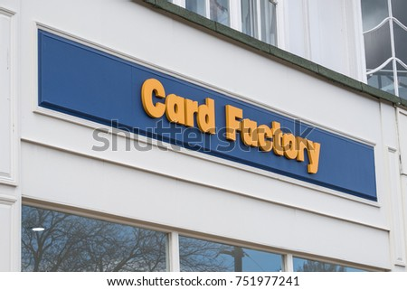 Edinburgh united kingdom 17 march 2017 stock photo 751977241 17 march 2017 card factory logo sign from exterior m4hsunfo