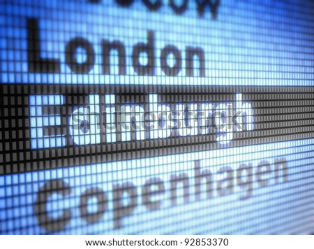 Edinburgh. World capitals