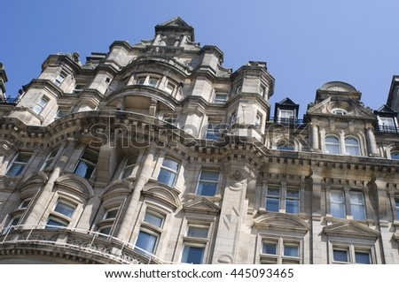 EDINGBURGH, GREAT BRITAIN - 26 June 2016. The Balmoral  Hotel, Edingburgh, Princes Street.  - stock photo