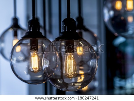 Edison light bulb - stock photo