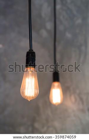 edison style light bulbs - stock photo
