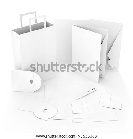 Editable corporate Identity template - stock photo