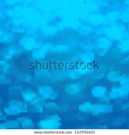 Editable illustration of light clouds in a blue sky - stock photo