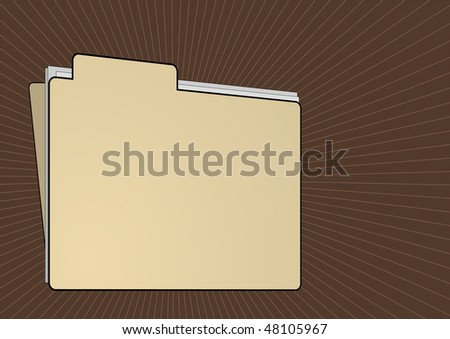 Editable vector background - Folder file