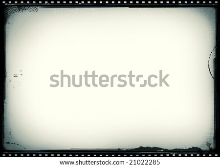 Editable vector film frame background with space for your text or image. - stock photo
