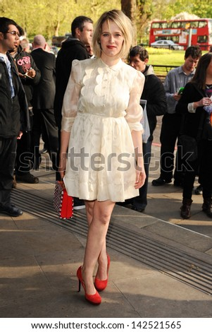 Edith Bowman arriving for the Sony Radio Awards 2013 at the Grosvenor House Hotel, London. 14/05/2013