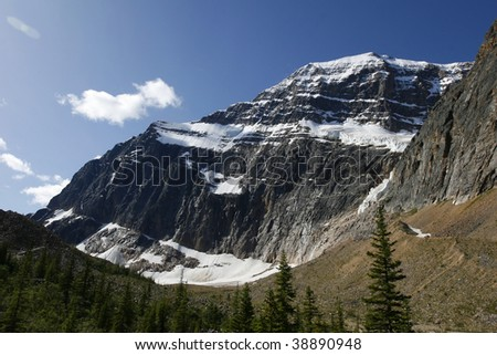 Edith cavell Mountain in Jasper national park, Alberta, Canada - stock photo