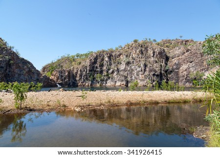 Edith Falls is in Nitmiluk National Park near Katherine in Northern Territory Australia