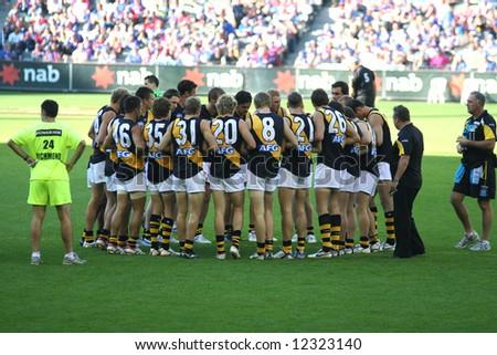 Editorial, Australian rules football Richmond tigers players - stock photo