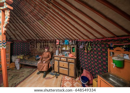 Editorial, MONGOLIA   22 MAY, 2017: Tradition Mongolian Yurt Interior