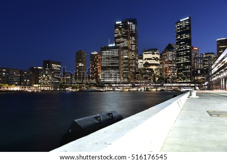 EDITORIAL: NOV 01st , 2016: SYDNEY, AUSTRALIA: Scenic Sydney Harbor and Iconic Sydney skyline