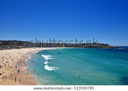 EDITORIAL: NOV 05th, 2016: Bondi Beach, Sydney, Australia: People enjoying at famous Bondi Beach in Sydney, Australia