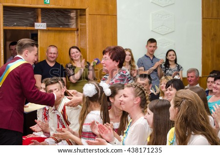 editorial reportage Last bell Lutsk 11th grade high school 14 celebration was held in Lutsk Volyn Region Ukraine, 27.05.16