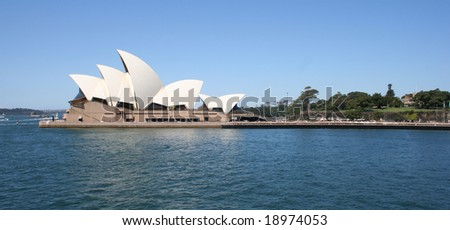 Editorial: Sydney, Australia - October, 2008: Sydney Opera House was inscribed as a UNESCO World Heritage Site on 28 June 2007 - stock photo
