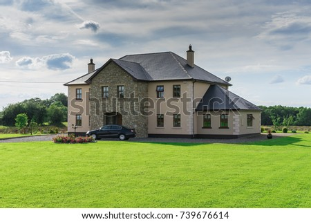 Editorial Use Only Big Two Story House In The Countryside Taken At Carrigallen