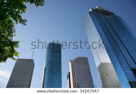 Editorial Use Only: Grand Skyscrapers of Houston, Texas, USA(Release Information: Editorial Use Only. Use of this image in advertising or for promotional purposes is prohibited.) - stock photo