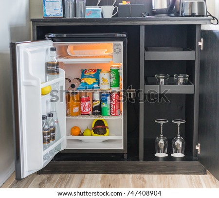 Editorial Use Only Hotel Mini Bar Stock Photo (Royalty Free ...