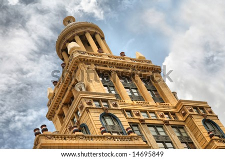 Editorial Use Only: Old Court Building in Houston, Texas, USA (Release Information: Editorial Use Only. Use of this image in advertising or for promotional purposes is prohibited.) - stock photo