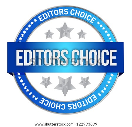 editors choice concept illustration design over a white background - stock photo