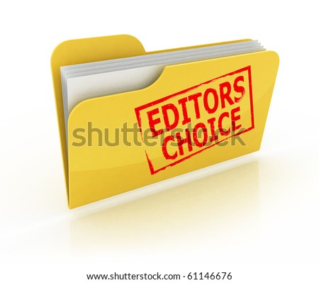 editors choice folder icon over the white background - stock photo