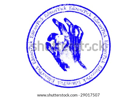 Editors'pick grunge rubber stamp over white background - stock photo