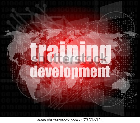 Education and learn concept: Training Development on digital screen - stock photo