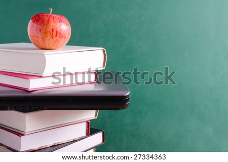 Education and technology concept - stock photo