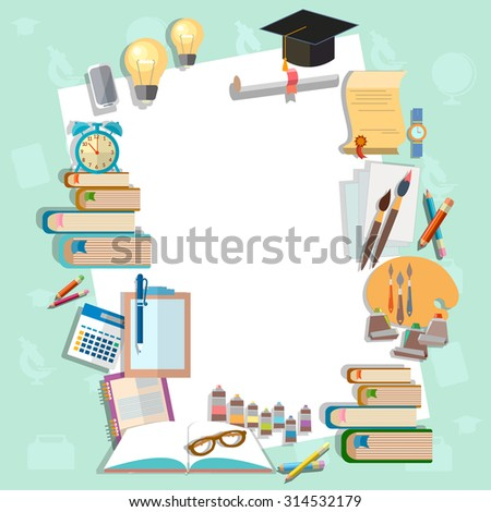 Education background diploma exams back to school college campus algebra mathematics graduation cup  - stock photo