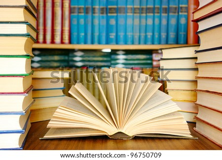 education books in a library