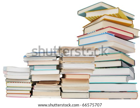 Education books stack - stock photo