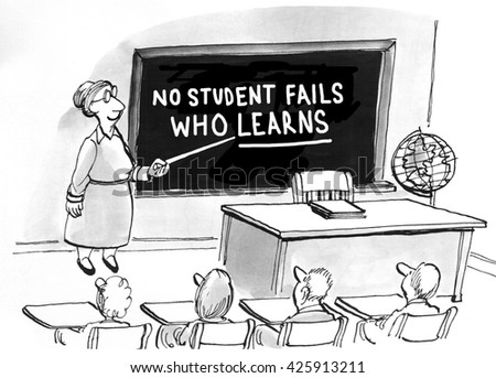 Education cartoon about the benefits gained through learning.