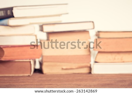 Education concept. Blur Old book background. Vintage filter. - stock photo