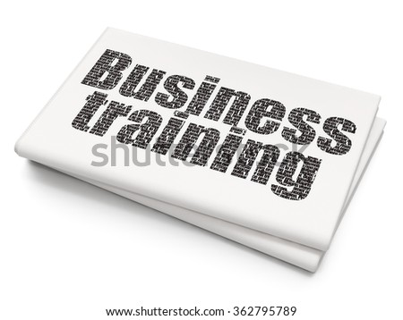 Education concept: Business Training on Blank Newspaper background - stock photo