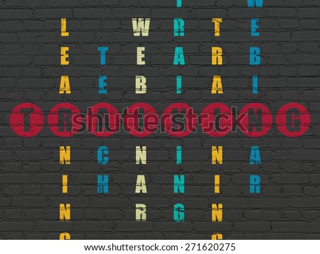 Education concept: Painted red word Training in solving Crossword Puzzle, 3d render - stock photo