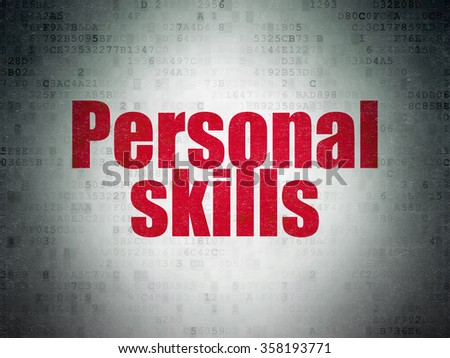 Education concept: Personal Skills on Digital Paper background - stock photo