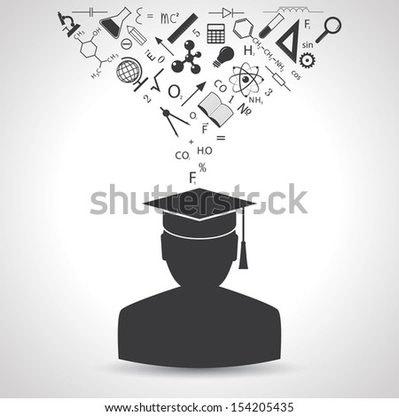 education concept. (rasterized version) - stock photo