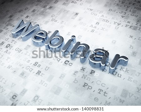 Education concept: Silver Webinar on digital background, 3d render - stock photo