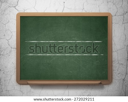 Education concept: White lines on School Board background, 3d render - stock photo