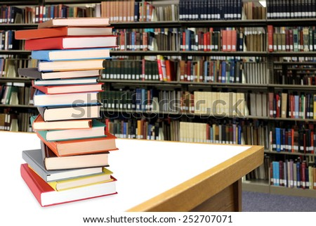 education concept with book and clock in library