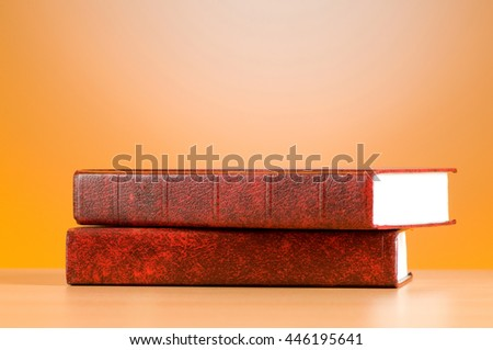 Education concept with red cover books - stock photo