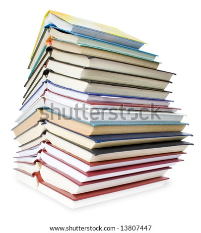 education concepts. big pile of books isolated on white background