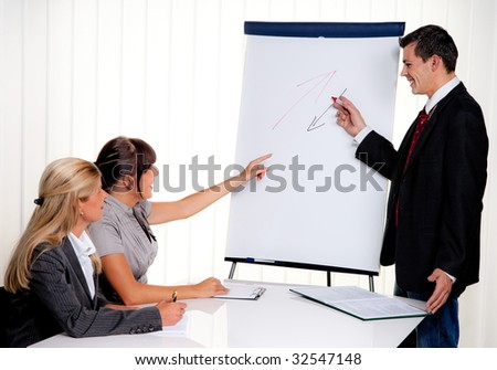 Education for staff training for young adults - stock photo