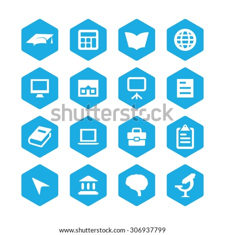 education icons universal set for web and mobile