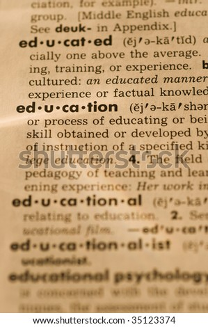 Education in dictionary
