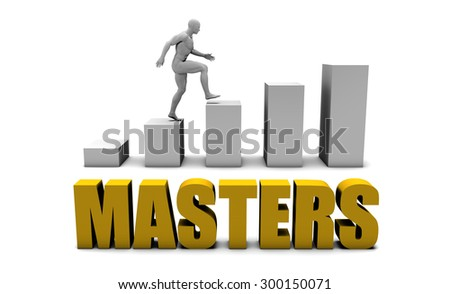 Education Masters  or Business Process as Concept - stock photo