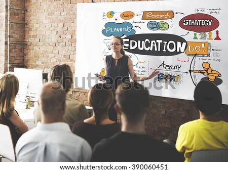 Education School Studies Learning Graphics Concept - stock photo