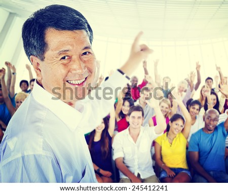 Education School Teacher Learning Professor Seminar Study Concept - stock photo