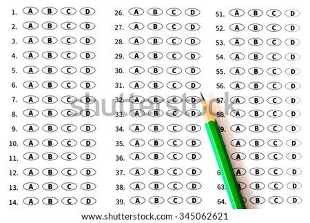 Education test sheer - stock photo