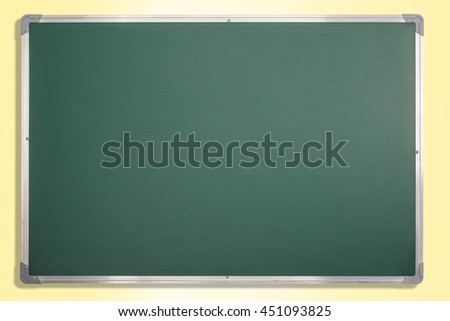 Education theme. Chalkboard with copy space. Clipping path for board. - stock photo